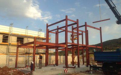 Estructura para vivienda, construida en una tarde.
