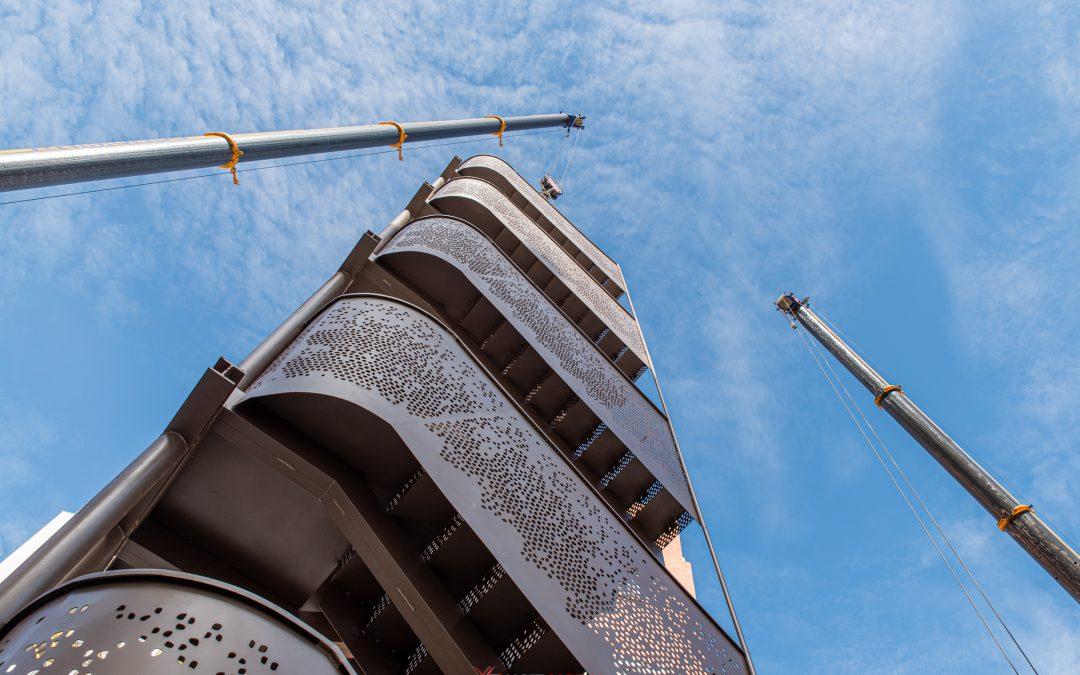 Escaleras metálicas para edificio de viviendas (Málaga)
